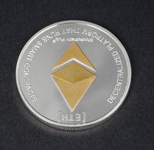 Ouro/Prata Ethereum Réplica Moeda Dom Coleção de Arte Cópia Física do Metal Antigo Imitação Não-moeda Moedas Colecionáveis