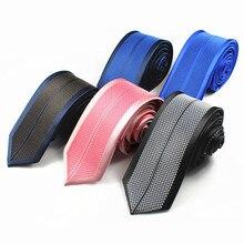 RBOCOTT Для мужчин Slim 6 cmtie половина Цвет и с рисунком в стиле пэчворк от галстуки в Вертикальную Полоску Для мужчин Для худой шеи галстук-бабочка для Свадебная вечеринка