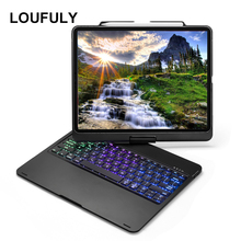 360 Rotation For iPad Pro 12.9 Case Keyboard Aluminum Backlit Bluetooth New Inch Cover Tablet