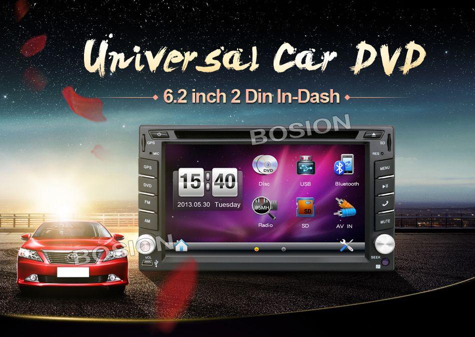 2016 <font><b>EU</b></font> warehouse New 6.2&#8243; Touch Screen car dvd player gps navigation USB SD Bluetooth FM 2din in <font><b>dash</b></font> TFT support rear view cam