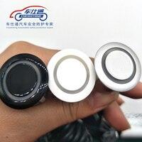 4 Unids/lote Sensores No Taladro Agujero Consideró 19mm Kit de Sensor de Aparcamiento de Coches Radar Reverso Del Sistema de Sonido Indicador De Alerta