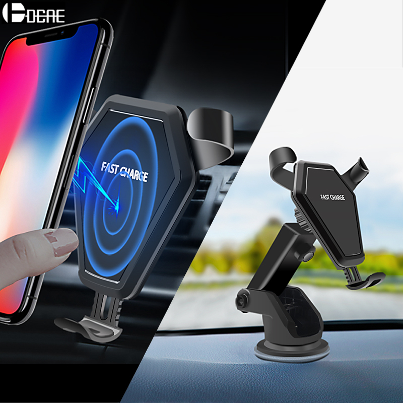 DCAE Wireless Charger Quick Charge Gravity Car Holder 10W for iPhone XS MAX XR X 8 Plus Fast