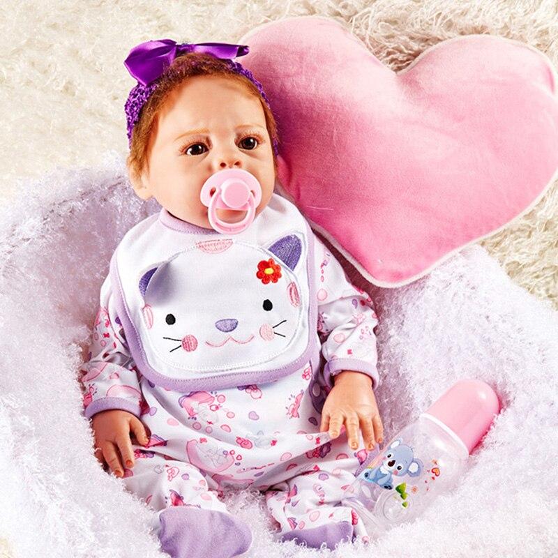 20Inch Full Silicone Dolls Reborn Baby Boy Silicone Reborn Baby Dolls Girls Bonecas Reborn SF5002 Toy Girls Kids Birthday Gifts warkings reborn