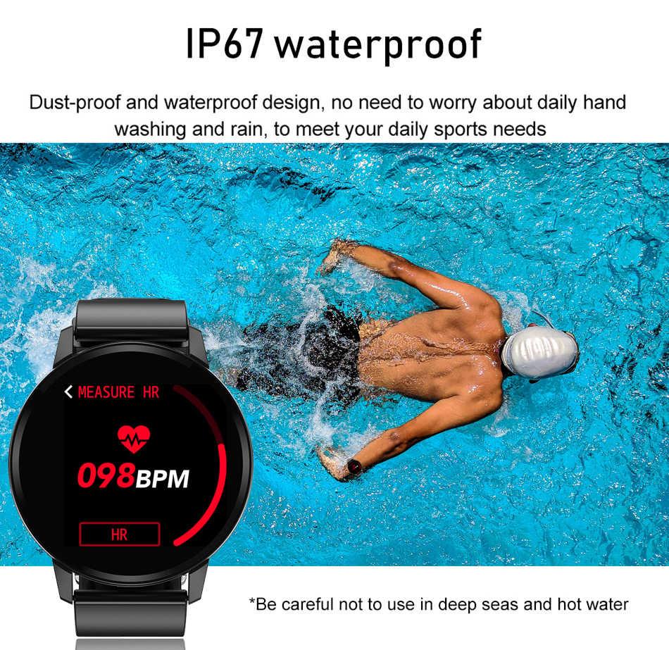 LIGE جديد الفضة حالة الذكية الفرقة سوار ذكي الموضة عادية ساعة رجالي جهاز تعقب للياقة البدنية العلامة التجارية الفاخرة مقاوم للماء smartwatch