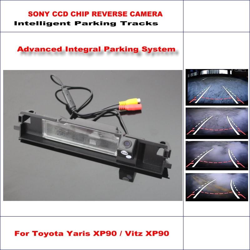 Intelligent Parking Rear Camera For Toyota Yaris XP90 / Vitz XP90 Hatchback 2008~2011 / NTSC RCA AUX HD SONY CCD 580 TV Lines цена 2017