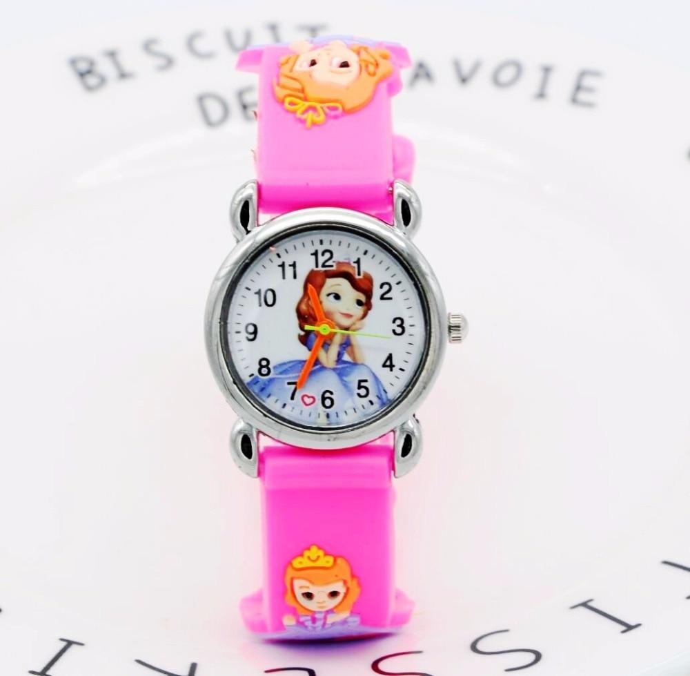 Princess Sophia Kids Watch Children Watches Marvel Super Hero Fashion Simple Luminous Leather Quartz Wristwatch Boys Girls Clock