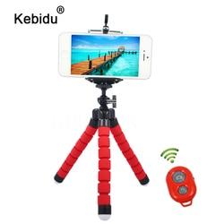 kebidu Car Phone Holder Flexible Octopus Tripod Bracket Selfie Stand Mount Monopod Styling Accessories+Remote Control for phone