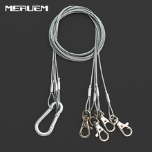 1 Bag 4pcs/set Lights Suspension Kit Stainless Steel Hang Rope, Hook Galvanized Cable, Hanging Grow lamp Fixtures 15kg