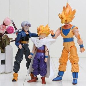 Image 4 - Dragon Ball Z Joint Beweegbare Vegeta Piccolo Zoon Gohan Zoon Goku Trunks Gogeta Pvc Action Figure Speelgoed
