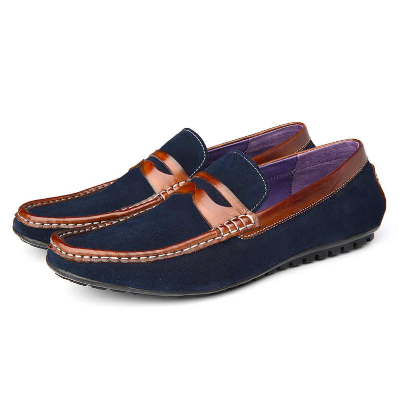 Spring top quality men genuine leather shoes summer Breathable flats casual driving shoes loafers boats shoes080-R69 2017 new fashion summer spring men driving shoes loafers real leather boat shoes breathable male casual flats