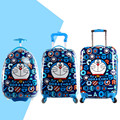 16'' 18'' 19'' Cartoon Doraemon Egg Shaped Trolley Case Maleta/Boys Cartoon Suitcase On Wheels/Kids ABS Hardside Travel Luggage