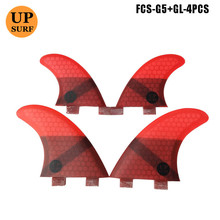 цены на fcs quad G5+GL surfing tabla de surf traction surf Honeycomb Fibreglass quilla surf fcs ailerons  в интернет-магазинах