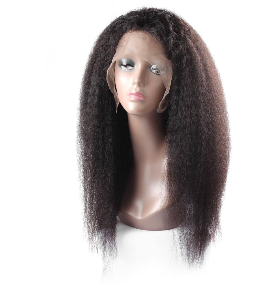 Allove yaki straight human hair lace front wigs (3)