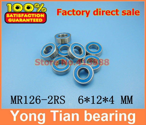 Factory direct sale High quality bearing ( blue rubber sealing cover ) MR126-2RS L-1260DD WBC6-12 MR126 2RS 6*12*4 mm ABEC-5 factory direct new caddy italics opening film ru ru ceramic sealing cans support custom logo