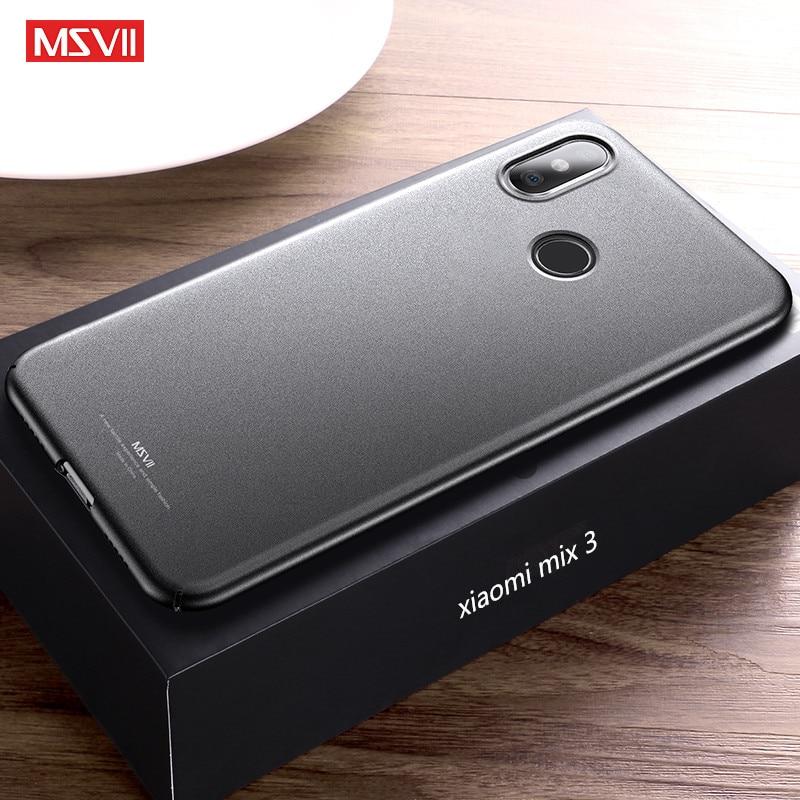 miglior servizio e3c7c 1a775 US $3.62 26% OFF|xiaomi mi mix 3 case MSVII luxury Ultra thin case For  xiaomi mi mix3 PC phone back cover For xiaomi max 3 Global version cases-in  ...