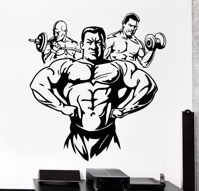 Element Brand Wallpapers Girls Aliexpress Com Buy Fitness Gym Wall Decal Sport Muscle