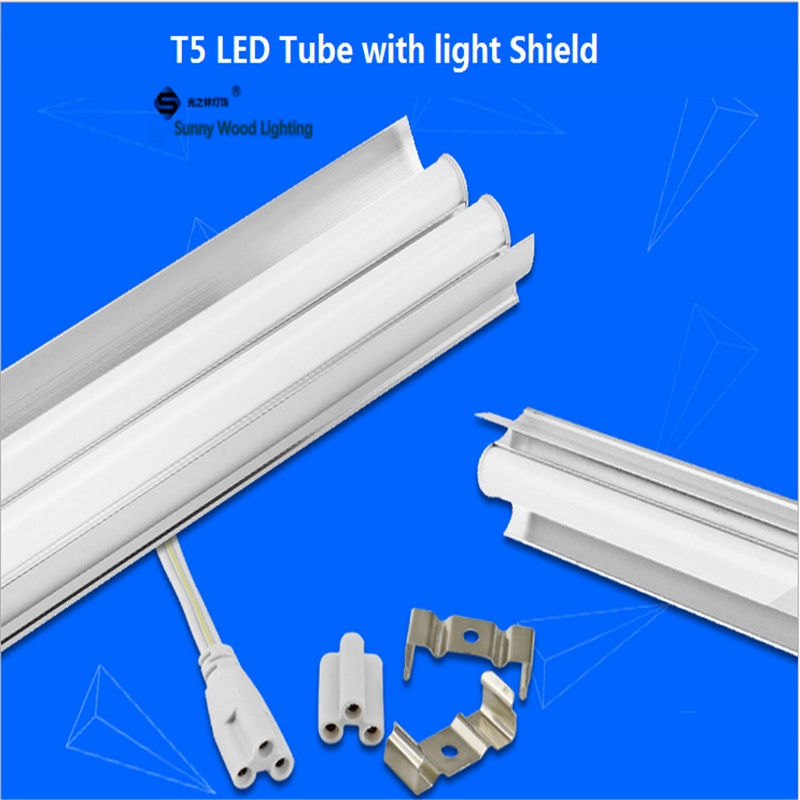 Free shipping 10pcs/carton 1.2m 18W,36W led t5 single tube ,double tube light with shiled to replace 28W 36W traditional light