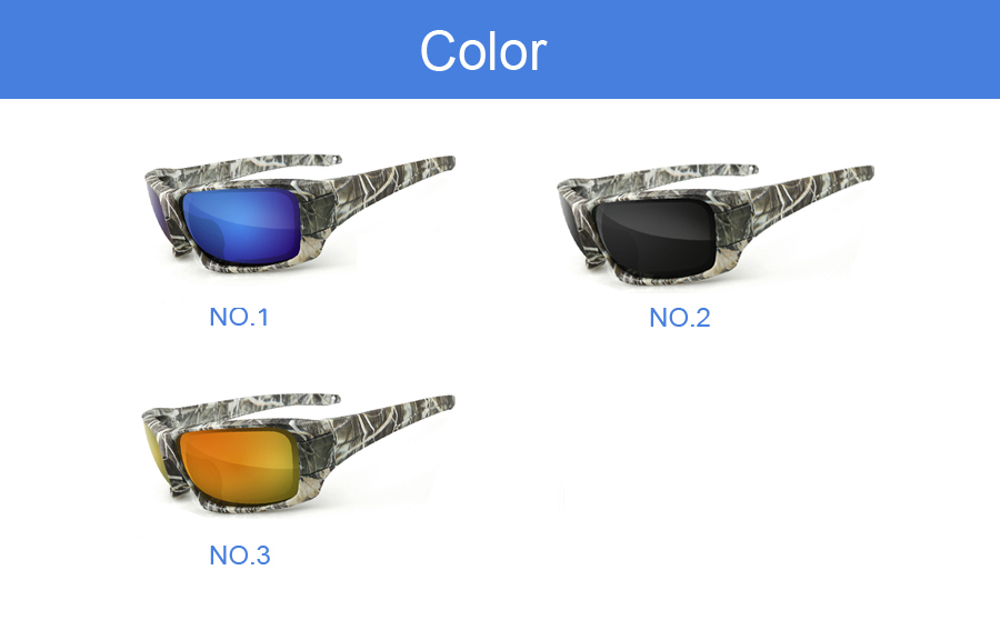 NEWBOLER Polarized Fishing Sunglasses Camouflage Frame Sport Sun Glasses Fishing Eyewear Oculos De Sol Masculino UV 400