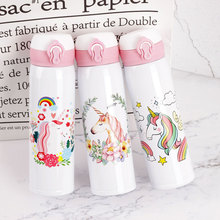 Cute  Cartoon Unicorn Thermal Insulation Water Bottles 500ML Large-capacity Kettles Portable& Applicable For Outdoor Sports