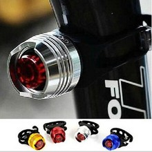 1Pcs Bike LED Waterproof Bicycle Cycling Front Tail rear Red/White Flash Light Safety Warning Cycling Lamp Caution Bicycle Light(China)