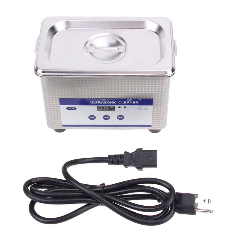 Mini Digital Ultrasonic Cleaner 800ml Tank Capacity Jewelry Watch Dental 35W 42,000Hz Ultrasound Sterilizer eu us 30w 50w 220v 110v mini ultrasonic cleaner bath for cleanning jewelry watch glasses circuit board limpiador ultrasonico