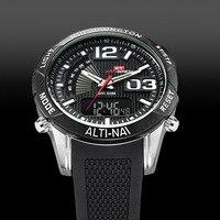 2018 New Digital Watches Big Face 50mm Chronograph Digital Analog Quartz Digital Dual Time Function Led Display Wrist Watches