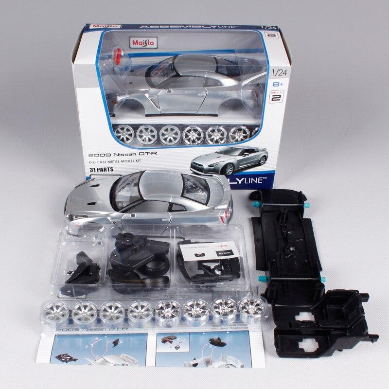 Maisto 1:24 Nissan GTR GT R Assembly DIY Diecast Model Car
