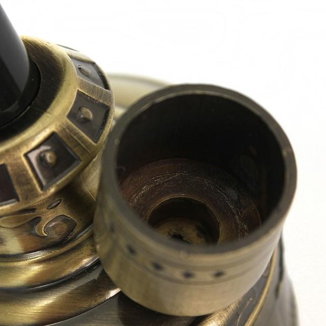 1pc Bronze Water Smoking Pipe Shisha Hookah Cigarette Bottle  Holder Pipe Hookah Filter Smoke Metal Tube Filter Tar JD-128
