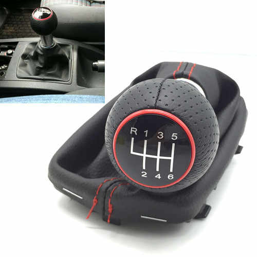 12mm Manual Car Gear Shift Knob Lever Stick Handle  Gaiter Boot  For Audi A3 S3 2001 2002 2003 Cover Case R 1 2 3 4 5 6 Speed