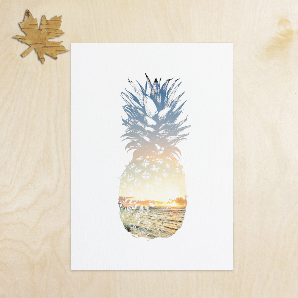 Summer Art Pineapple Wall Decor Tropical Decor Beach Decor