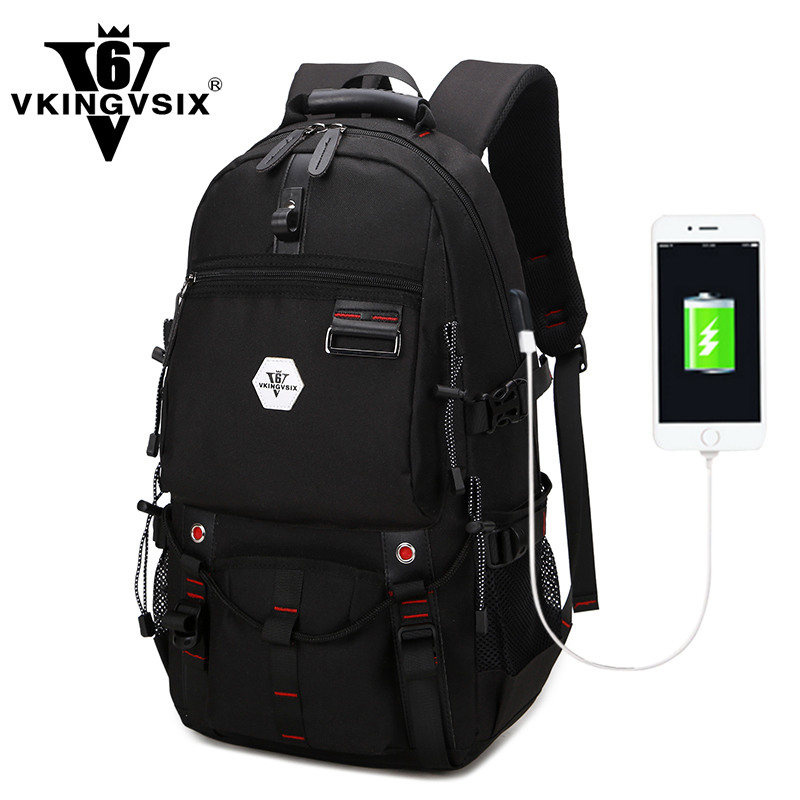VKINGVSIXV6 school bags  large laptop backpack large capacity Travel bag fashion casual waterproof backpack male school backpack grizzly 2017 new fashion men backpack waterproof large capacity school bags for teenager boys casual mochila travel bag