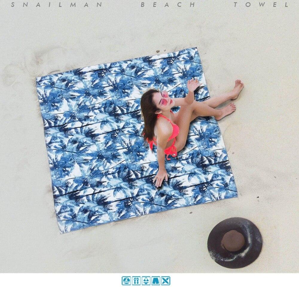 Marke Kompakte Strand Handtuch Schnell Trocknend Sommer Vocation Yoga Handtuch Gedruckt Surfen Reise Handtuch Schwimmen Mikrofaser Handtuch