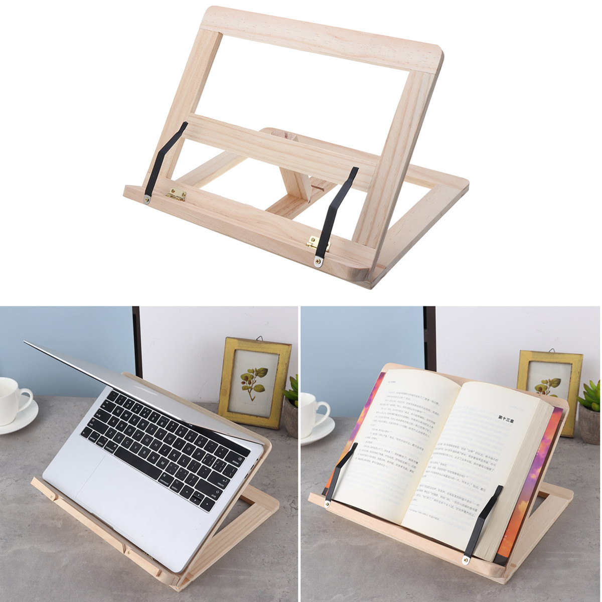 Multifunctional Foldable Wood Bookends Stand Cookbook Holder Reading Rack Wooden Reading Book Support Stand Holders Tablet PCMultifunctional Foldable Wood Bookends Stand Cookbook Holder Reading Rack Wooden Reading Book Support Stand Holders Tablet PC