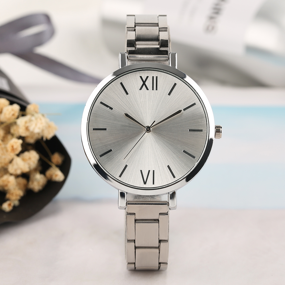 Elegant Matte Dial Women Wrist Watch Sliver/ Gold/ Rose Theme Stainless Steel Bangle Ladies Watches Bracelet Clasp Band Clock friendship gifts birthday gifts fw819e rose gold band white dial ladies elegant alexis brand crystal bracelet watch gifts box