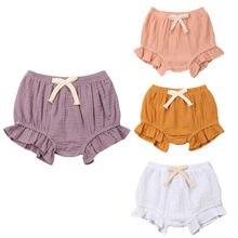 Однотонные штаны для маленьких мальчиков и девочек 3-18 месяцев, шорты, трусики-шаровары