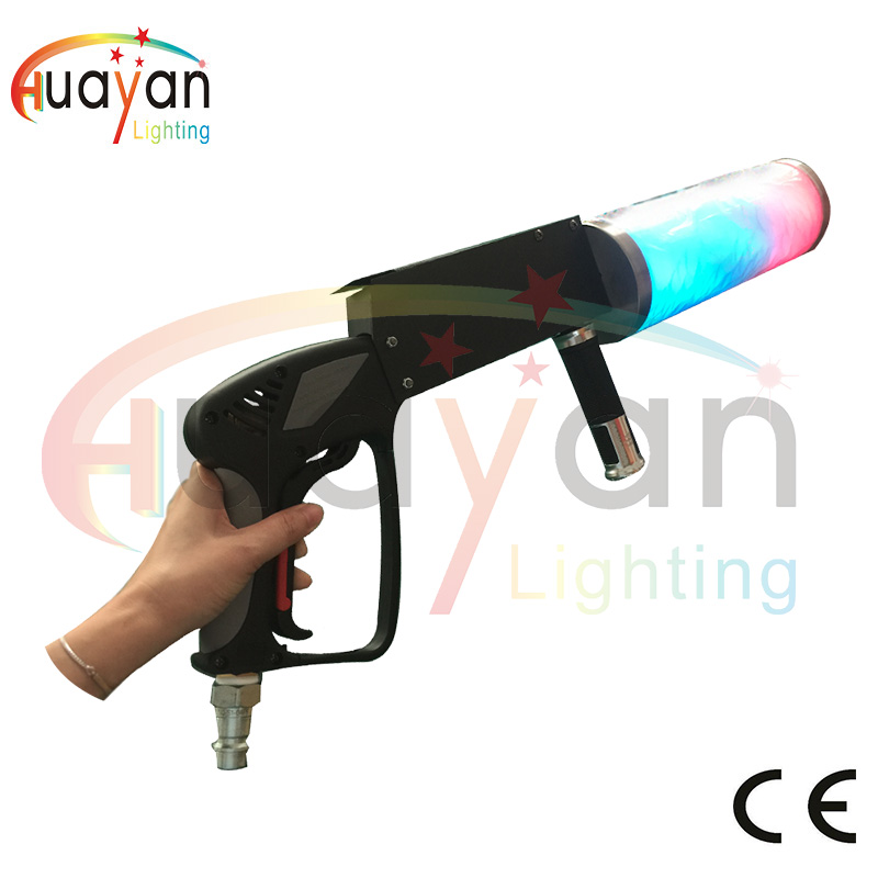Stage Effect LED Co2 Jet Co2 Machine Gun LED Effect With 3M co2 Hose For Co2 Equipment DJ Lighting DJ Cannon RGB 3 IN1