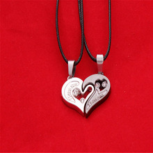 Women Men I Love You Heart Shape Pendant Necklace For Lovers Couples Jewelry