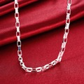 "FSN200 Men's 925 Sterling Silver Necklace Link Chain 5mm 18"" Wholesale 925 Silver Jewelry"