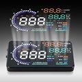 Universal 5.5 ''Car HUD Cabeça Up Display LCD Digital de Auto OBD II Interface Do Veículo Projetor A8 HUD Excesso de Velocidade Alarme sistema