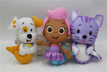 New Nickelodeo Bubble Guppies Plush Doll Toy Molly & Puppy & KITTY Set of 3