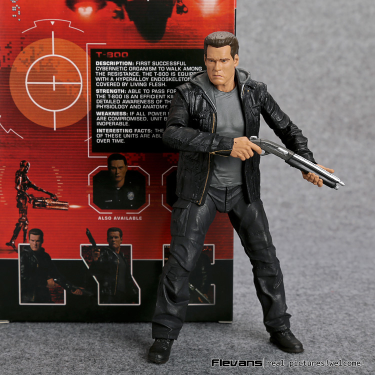 Terminator Genisys T-800 Guardian PVC Action Figure Collectible Model Toy 7 18cm MVFG360 neca the terminator 2 action figure t 800 endoskeleton classic figure toy 718cm 7styles