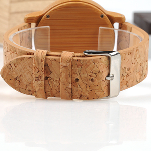 Image 4 - BOBO BIRD WA29 Wooden Watch Blue Indexes White Green Clothes Constitute Dial Nice Women Bamboo Watches