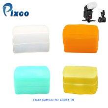 Pixco Костюм для CANON 430EX RT рассеиватель для вспышки Диффузор софтбокс белый зеленый оранжевый желтый