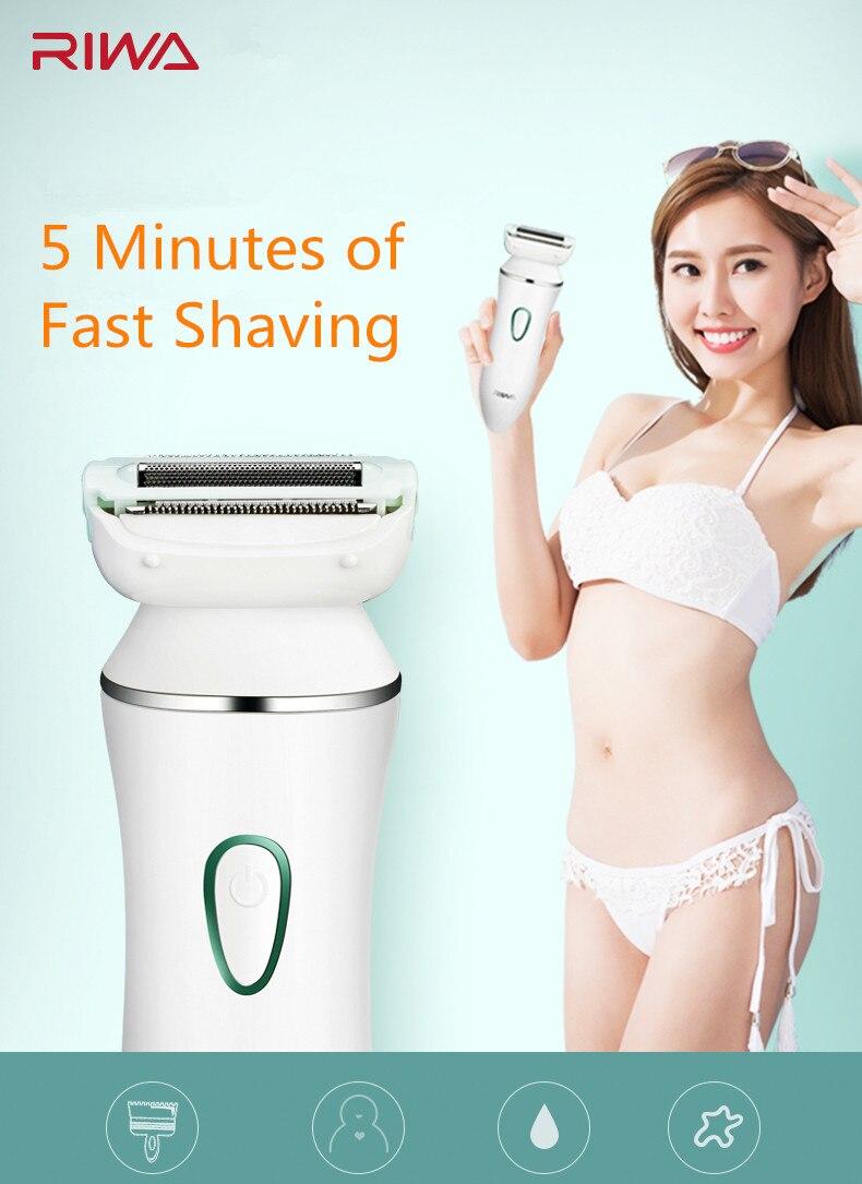 RIWA Женская бритва, электрический эпилятор, для удаления волос, зарядка через usb, для депиляции, Женская моющаяся бритва, для женщин, для лица, бикини