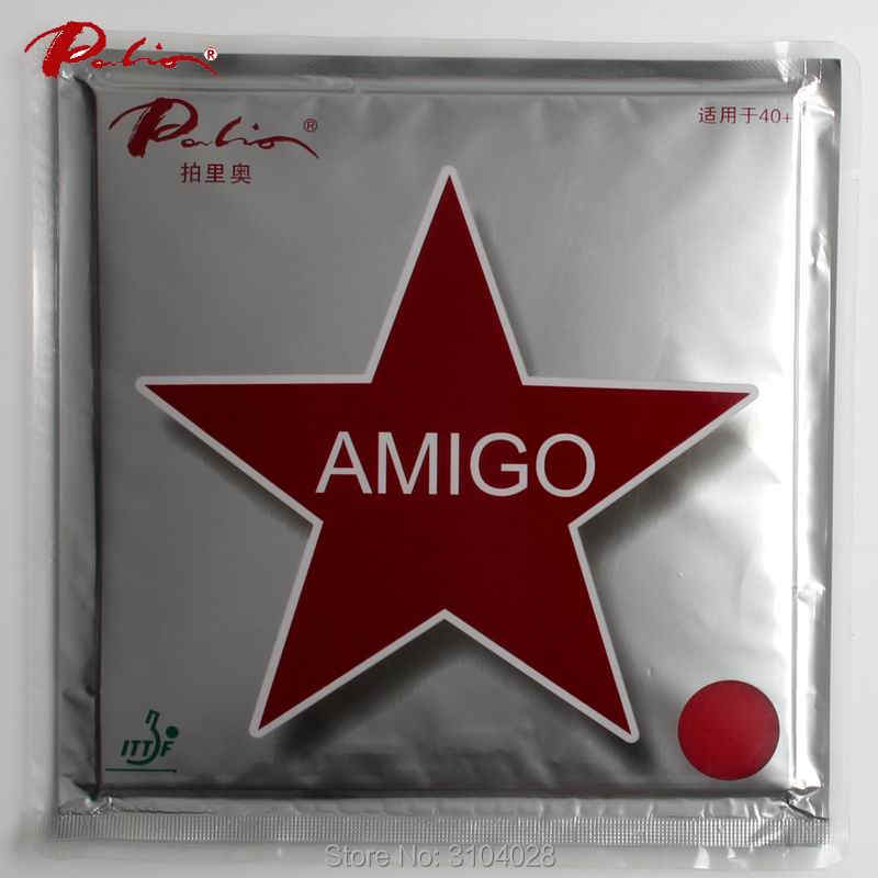 Palio official 40+ AMIGO table tennis rubber little sticky pimples in fast attack with loop for ping pong game