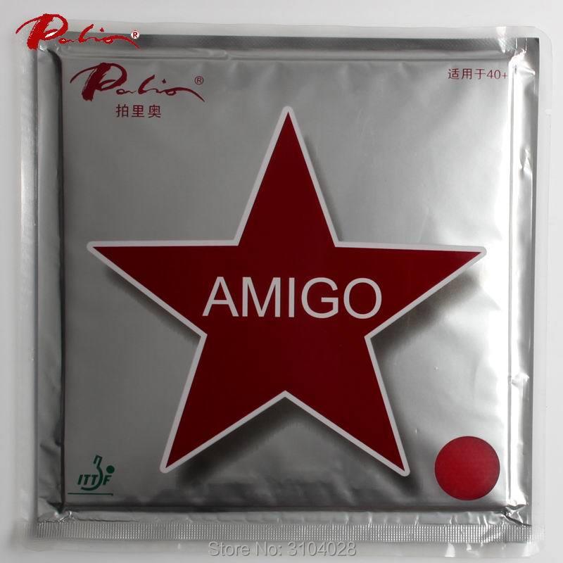Palio อย่างเป็นทางการ 40+ AMIGO เทเบิลเทนนิสยางพาราเล็ก ๆ น้อย ๆ ที่มีสิวเหนียวเหนียวในการโจมตีอย่างรวดเร็วพร้อมลูปสำหรับเกมปิงปอง