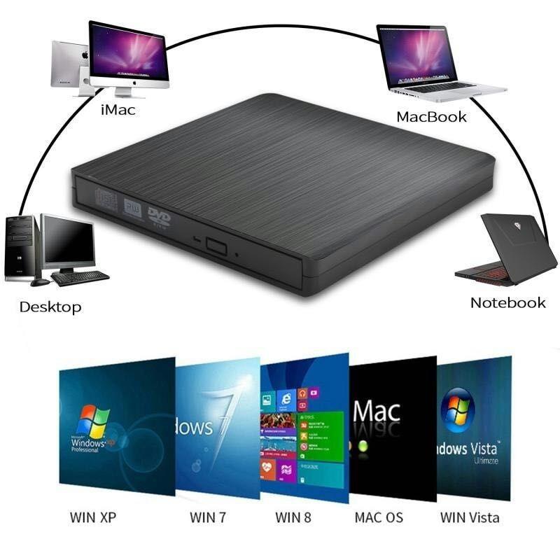 DVD ROM 光学ドライブケース USB 3.0 CD/DVD ROM CD RW プレーヤーポータブル CD24X DVD8X リーダーレコーダーためラップトップコンピュータ -    グループ上の パソコン & オフィス からの 光学ドライブケース の中