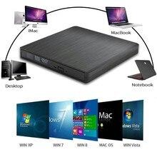 DVD ROM محرك الأقراص الضوئية حالات USB 3.0 CD/DVD ROM CD RW لاعب المحمولة CD24X DVD8X قارئ مسجل لأجهزة الكمبيوتر المحمول الكمبيوتر