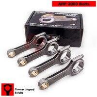 For Honda S2000 F20C Connecting Rod Conrod Rods 153 23mm EN24 H Schaft Pleuel Bielas Shot