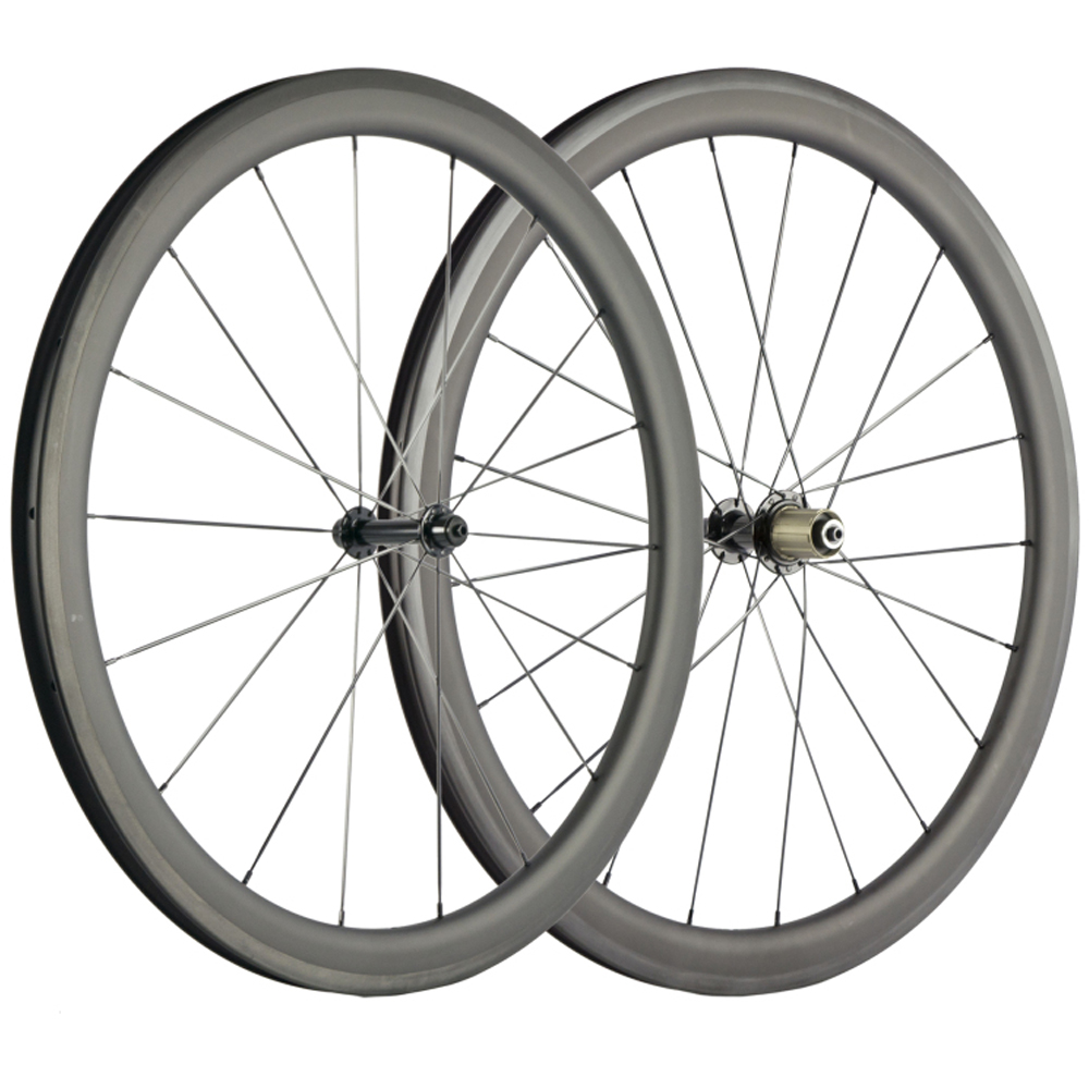 New arrival Carbon Wheels 700C Road Bicycle Wheelset 45mm Clincher Cycle Wheels 25mm U shape high Performance wheels